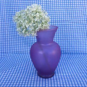 Purple Glass Curve Vase